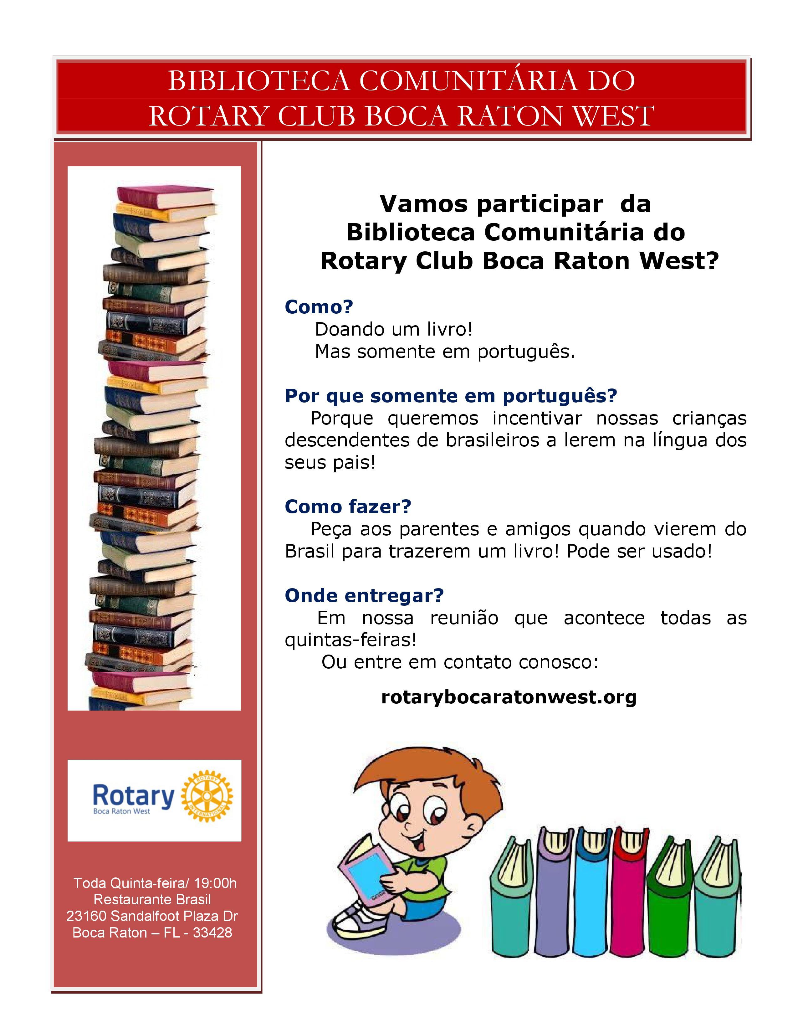 você conhece o projeto biblioteca comunitária de livros em português