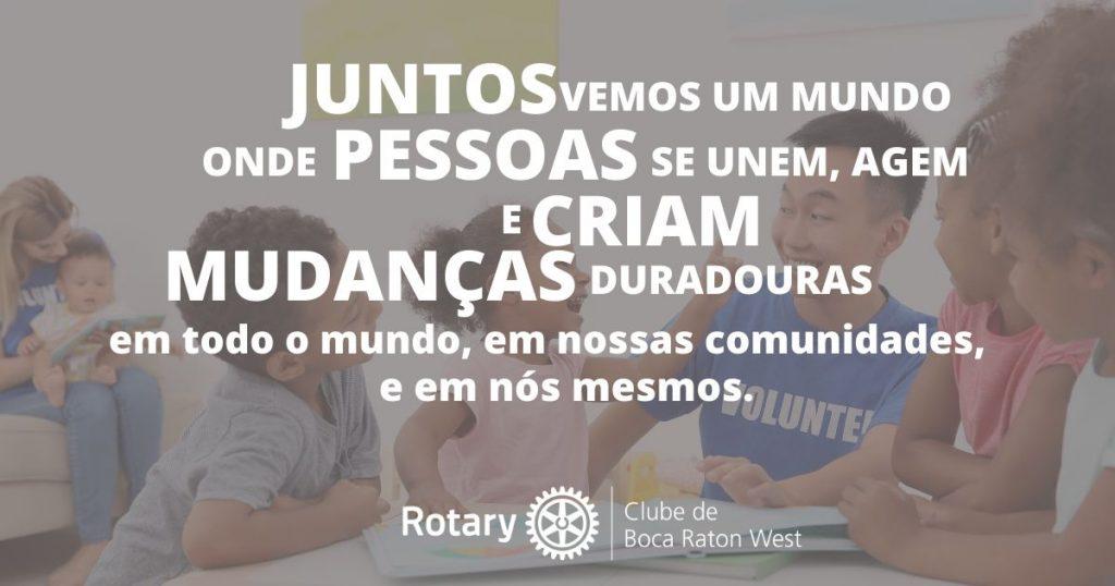 Rotary Banner Juntos vemos um mundo