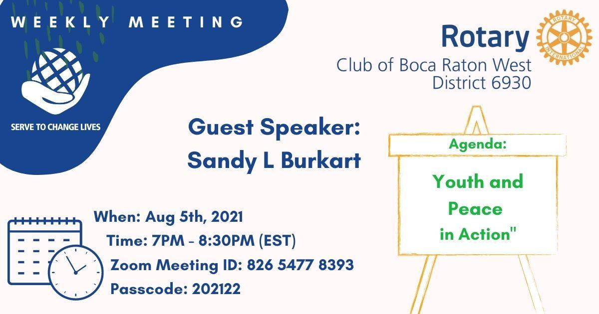Weekly Meeting 08-05-21